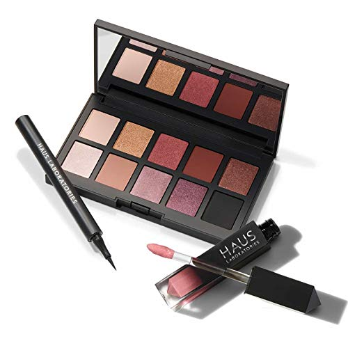 0840073502038 - HAUS LABORATORIES BY LADY GAGA: HAUS PARTY SET | $82 VALUE, LIQUID EYELINER, 10-SHADE EYESHADOW PALETTE, AND LIP GLOSS WITH BAG, VEGAN & CRUELTY- FREE | 3-PIECE VALUE SET