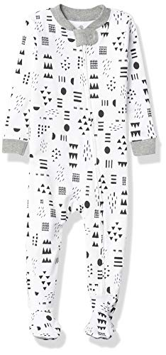 0840109630742 - HONESTBABY BABY ORGANIC COTTON SNUG-FIT FOOTED PAJAMAS, PATTERN PLAY, 18 MONTHS