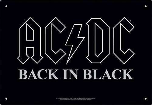 0840391107656 - AC/DC BACK IN BLACK TIN SIGN