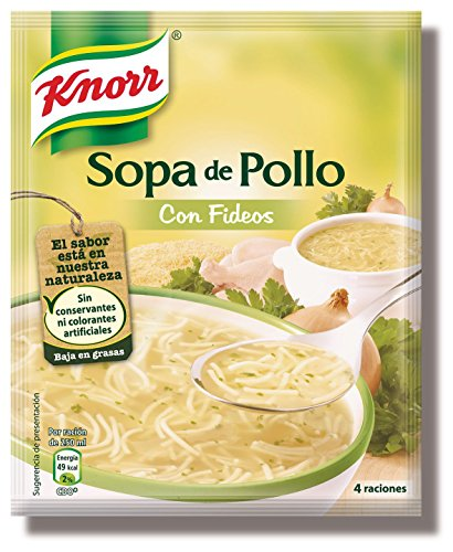 8410127041145 - KNORR SOPA DE POLLO WITH FIDEOS CHICKEN SOUP DRY CHICKEN SOUP MIX NO CONSERVATIVES OR ARTIFICIAL COLORING 63G