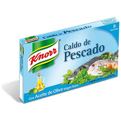 8410127062553 - KNORR FISH BOUILLON CUBES IN EXTRA VIRGIN OLIVE OIL 8 PACK 80 GRAMS CALDO DE PESCADO STOCK GLUTEN FREE