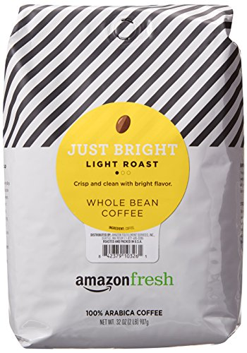 0842379103261 - AMAZONFRESH JUST BRIGHT WHOLE BEAN COFFEE, LIGHT ROAST, 32 OUNCE (PACK OF 1)