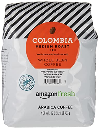 0842379103339 - AMAZONFRESH COLOMBIA WHOLE BEAN COFFEE, MEDIUM ROAST, 32 OUNCE (PACK OF 1)