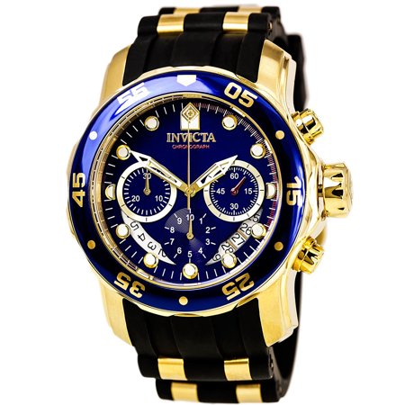 0843836069830 - INVICTA MEN'S 6983 PRO DIVER COLLECTION CHRONOGRAPH BLUE DIAL BLACK POLYURETHANE WATCH
