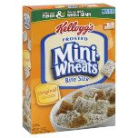 0844220025128 - KELLOGG'S FROSTED MINI€'WHEATS BITE SIZE CEREAL 18 OZ (PACK OF 8) + (M&M MILK CHOCOLATE 6CT /1.69OZ)