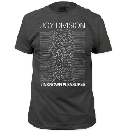 0844355056905 - JOY DIVISION UNKNOWN PLEASURES ADULT HEATHER CHARCOAL GRAY T-SHIRT (ADULT X-LARGE)