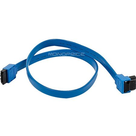 0844660087830 - MONOPRICE 18-INCH SATA III 6.0 GBPS CABLE WITH LOCKING LATCH AND 90-DEGREE PLUG - BLUE
