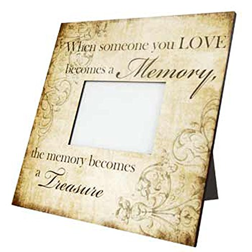 0844796028493 - ADAMS & CO - MEMORIAL WOOD PICTURE FRAME - WHEN SOMEONE YOU LOVE BECOMES A MEMORY 14 X 14