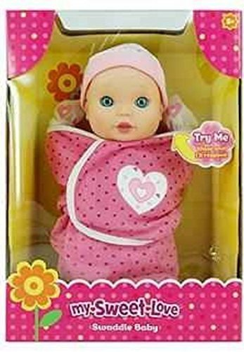 0845371052759 - MY SWEET LOVE SWADDLE BABY DOLL