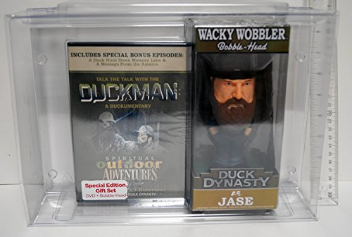 0849803037710 - DUCK DYNASTY JASE WACKY WOOBLER BOBBLE-HEAD & TALK THE TALK WITH THE DUCKMAN DVD GIFT SET