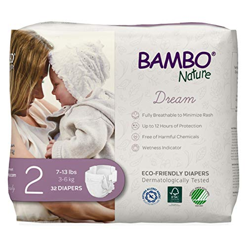 0850001271844 - BAMBO NATURE BAMBO NATURE PREMIUM ECO-FRIENDLY BABY DIAPERS, SIZE 2 (7-13 LBS), 32 COUNT