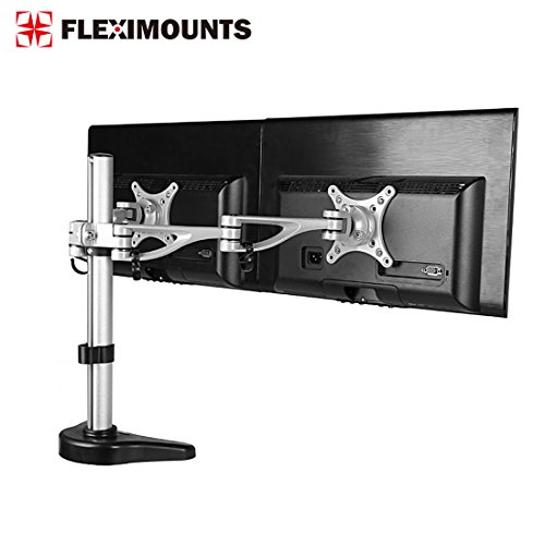 8500574025055 - FLEXIMOUNTS M13 DUAL ARM LCD ARM DESK MOUNT MONITOR STAND MOUNTS FOR 10''-27'' SAMSUNG/DELL/ASUS/ACER/HP/AOC LCD COMPUTER MONITOR ,WITH CLAMP OR GROMMET DESKTOP WORKSTATION SUPPORT