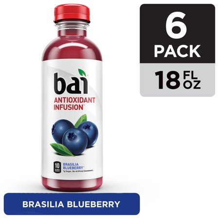0852311004747 - BAI5, 5 CALORIE BRASILIA BLUEBERRY, 100% NATURAL, ANTIOXIDANT INFUSED BEVERAGE, 18-OUNCE BOTTLES (PACK OF 6)