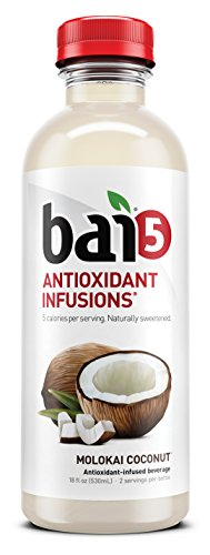 0852311004754 - BAI5 5 CALORIE MOLOKAI COCONUT 100% NATURAL, ANTIOXIDANT INFUSED BEVERAGE, 18-OUNCE BOTTLES (PACK OF 6)