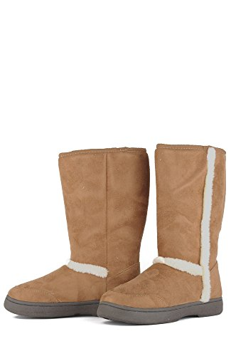 8582211012154 - BAMBOO TAHOE-01 WOMEN'S CASUAL COMFORT SUEDE SOFT FUR LINED WINTER SNOW BOOT