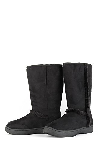 8582211014547 - BAMBOO TAHOE-01 WOMEN'S CASUAL COMFORT SUEDE SOFT FUR LINED WINTER SNOW BOOT