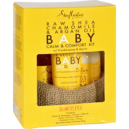 8592720392364 - SHEAMOISTURE GIFT SET - BABY - RAW SHEA CHAMOMILE AND ARGAN OIL - CALM AND COMFORT KIT - 3 PIECES - 1 SET