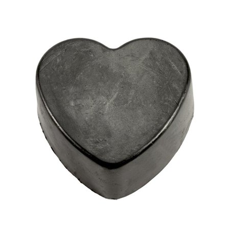 0861214000169 - LAVA LOVE BLACK HEART, VEGAN VOLCANO SOAP MADE WITH VOLCANIC ASH (BENTONITE, ZEOLITE, PUMICE) FROM OREGON AND SHEA BUTTER, ONE 3.5 OUNCE BAR