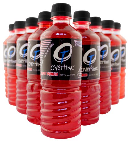 0862827000027 - OVERTIME 27-FP SUGAR-FREE ELECTROLYTE REPLACEMENT DRINK, 16.9 OZ BOTTLE, FRUIT PUNCH FLAVOR (CASE OF 24)