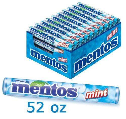 0000087108019 - 40 PACKS OF MENTOS MINT CHEWY CANDY WITH NATURAL FLAVOURS