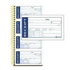0087958621686 - ADAMS BUSINESS FORMS WRITE N' STICK RECEIPT BOOK, 7-5/8X11, 600 TOTAL SETS