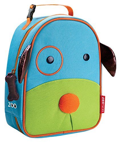 8796740021284 - SKIP HOP BABY ZOO LITTLE KID AND TODDLER INSULATED AND WATER-RESISTANT LUNCH BAG, MULTI DARBY DOG