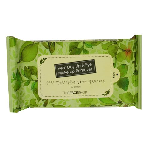 8809481731180 - THE FACE SHOP HERB DAY LIP & EYE REMOVER TISSUE 85G