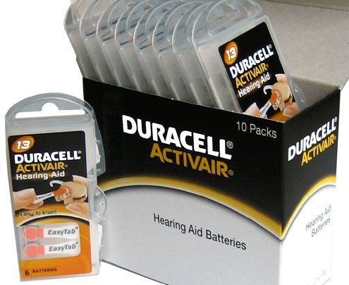 0881462555921 - DURACELL HEARING AID BATTERIES SIZE 13 PACK 60 BATTERIES 1.4V