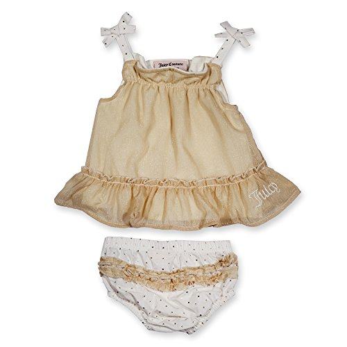 0881634129882 - JUICY COUTURE GOLDEN DRESS AND PANTIES SET FOR BABY GIRLS (6/9M)