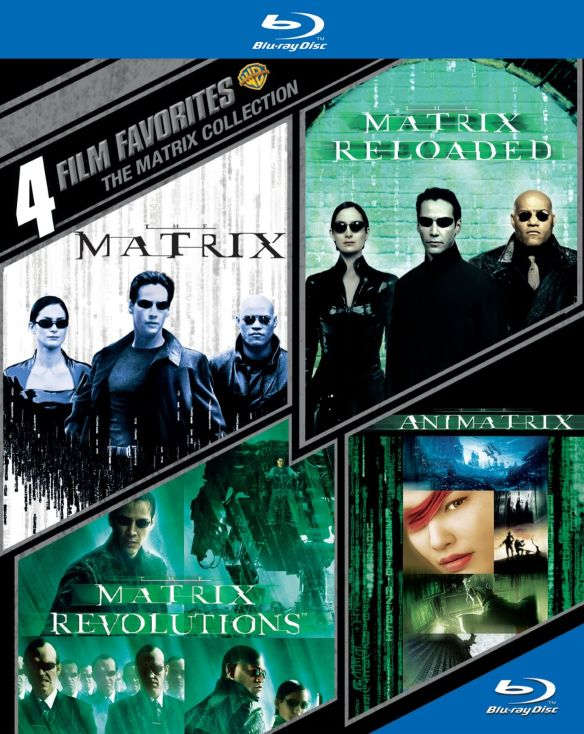 0883929365159 - 4 FILM FAVORITES: THE MATRIX COLLECTION - THE MATRIX / THE MATRIX RELOADED / THE MATRIX REVOLUTIONS / THE ANIMATRIX (BLU-RAY) (WIDESCREEN)