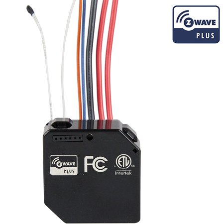 0883951418892 - ENERWAVE Z-WAVE PLUS SWITCH MODULE ZWN-RSM2 CONVERTING 2 CURRENT SWITCHES SMART, NEUTRAL WIRE REQUIRED, BLACK