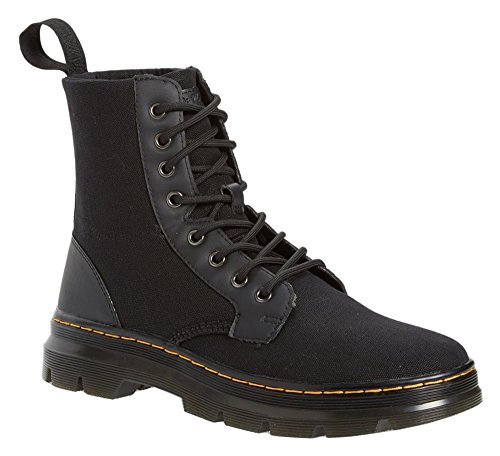 0883985942134 - DR. MARTENS MEN'S COMBS WAXY CANVAS BLACK COMBAT BOOT - 7 F(M) UK / 8 D(M) US