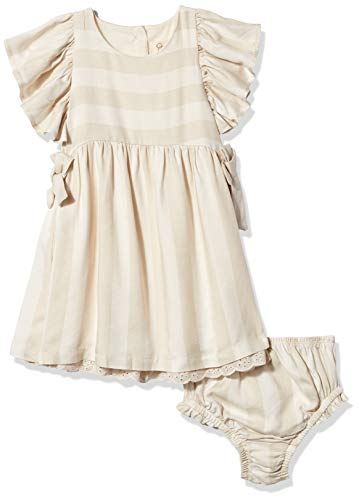 0884533581409 - JESSICA SIMPSON BABY GIRLS' FIT AND FLARE, BOWS AND EYELET HEM SEA SALT, 18M