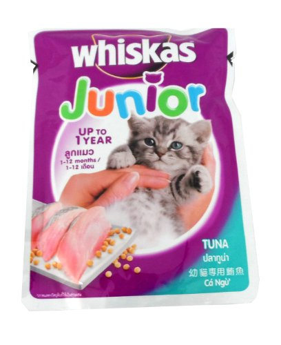 0884766795390 - WHISKAS JUNIOR CAT FOOD TUNA ENTREE FLAVOUR 3 OZ. PACK OF 2