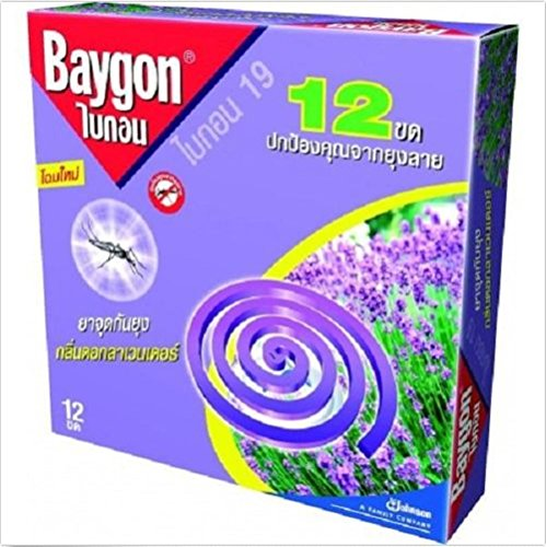 8851283812345 - BAYGON ANTI MOSQUITO REPELLER 12 COILS LAVENDER FRAGRANCE INCENSE 144 G.