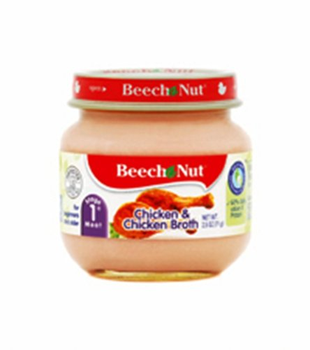 0885181609606 - BEECH-NUT CHICKEN AND BROTH STAGE 1, 2.5 OUNCE JARS (PACK OF 12)