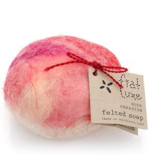0885267768036 - ROSE GERANIUM FELTED SOAP 1 BAR BY FIAT LUXE