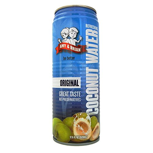 0885524077819 - AMY & BRIAN NATURAL COCONUT JUICE PULP FREE, 17.5 OUNCE CAN (PACK OF 12)