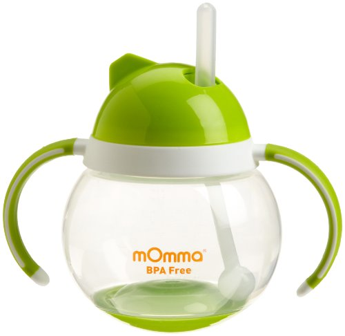 0885671111961 - LANSINOH MOMMA STRAW CUP WITH DUAL HANDLES, GREEN (DISCONTINUED BY MANUFACTURER)
