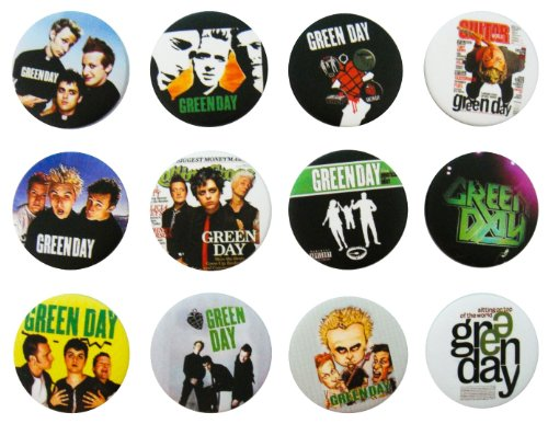 8857122115608 - GREEN DAY AWESOME QUALITY LOT 12 NEW PINS PINBACK BUTTONS BADGE 1.25 INCH