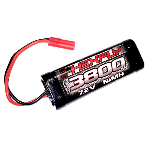 0885835127555 - REDCAT RACING HX-3800MH-B VERSION 4.0 3800 NI-MH BATTERY-7.2V WITH BANANA CONNECTOR