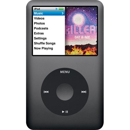 0885909341320 - APPLE IPOD CLASSIC-MC297LL/A (160GB) (BLACK) (7TH GENERATION) MP3/MP4 PLAYER (DISCONTINUED BY MANUFACTURER)