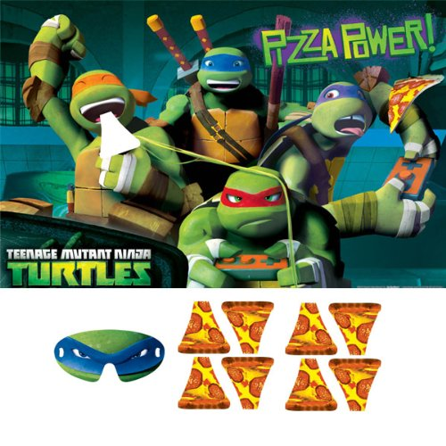 0885938116951 - TEENAGE MUTANT NINJA TURTLES PARTY GAME, FEED THE PIZZA TO MIKEY, MULTICOLORED