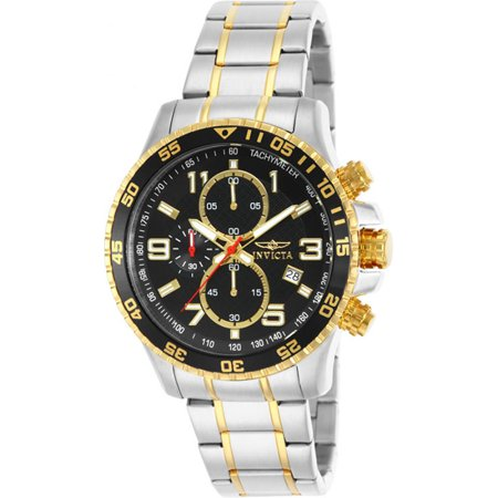 0886678181261 - INVICTA MEN'S 14876 SPECIALTY CHRONOGRAPH 18K GOLD ION-PLATED AND STAINLESS STEEL WATCH