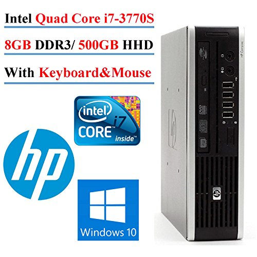 0887111649751 - 2017 HP 8300 ELITE ULTRA SMALL FORM FACTOR DESKTOP, INTEL CORE I7-3770S 3.1GHZ QUAD-CORE, 8GB DDR3, 500GB HHD, DVDRW, WIN10 HOME (CERTIFIED REFURBISHED)