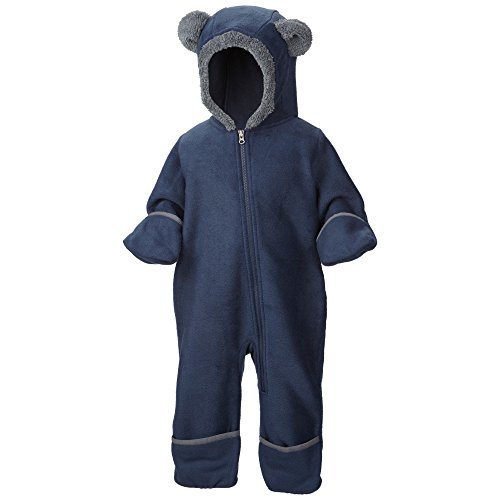 0887253734377 - COLUMBIA BABY BOYS' INFANT TINY BEAR II BUNTING, COLLEGIATE NAVY, 6-12 MONTHS