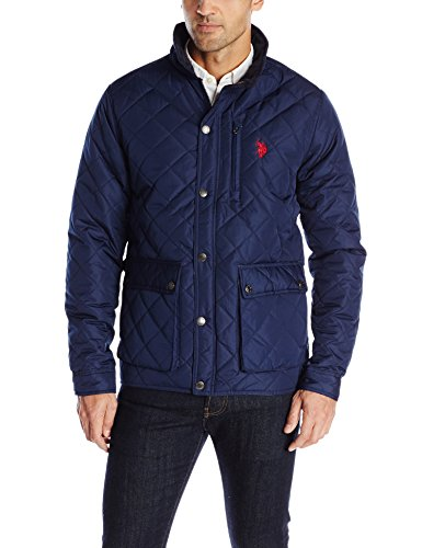 0887260225813 - U.S. POLO ASSN. MEN'S DIAMOND QUILTED JACKET, CLASSIC NAVY, LARGE