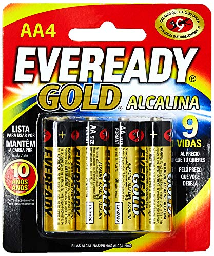 8888021201451 - PILHA EVEREADY C/4 GOLD AA4 PEQUENA