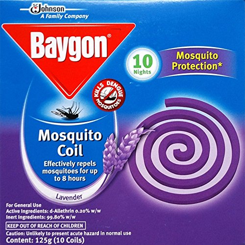 8888280306102 - 2 X BAYGON MOSQUITO REPELLENT COILS (10 COILS/PACK) - LAVENDER SCENT