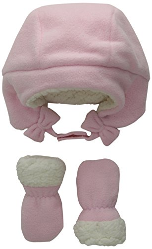 0889705061963 - THE CHILDREN'S PLACE BABY-GIRLS TRAPPER AND MITTEN, SHELL, 6-12 MONTHS